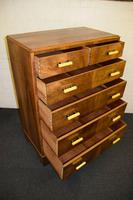 Lovely Walnut Art Deco Chest of Drawers (9 of 11)