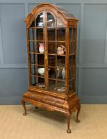 Burr Walnut Dome Topped Display Cabinet (20 of 21)