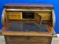 Biedermeir Mahogany Veneered Cylinder Bureau Desk 19th Century (11 of 14)