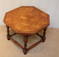 Small Oak Parquetry Top Table (4 of 10)