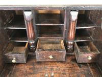 Antique Carved Oak Bureau (7 of 14)