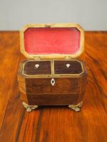 George IV Inlaid Rosewood Tea Caddy (4 of 9)