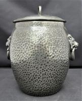 Liberty & Co Tudric Pewter Biscuit Jar, Number 01065, Lion Handles c.1910 (7 of 8)