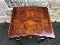 Antique Burr Walnut Drop Flap Side Table (3 of 9)