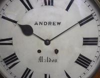 Antique Original Dial Wall Clock Rare Striking Station Public Dial Wall Clock (5 of 10)