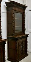 Pair of French Carved Gothic Oak Bookcases (2 of 12)