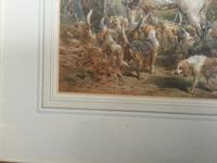 Frederick Tayler Watercolour  'The Hunting Party' (2 of 3)
