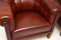 Pair of Antique Swedish  Leather Club Armchairs (7 of 11)