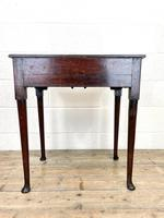 Small 18th Century Antique Oak Side Table (9 of 10)