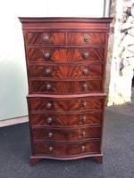 Quality Mahogany Serpentine Chest on Chest (10 of 11)