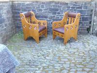 Pair of Arts & Crafts Chairs - Goodyers (9 of 9)