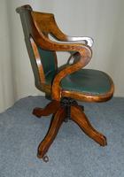 Oak Desk Chair - Adjustable (3 of 7)