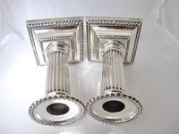 Handsome Pair of George V Silver Candlesticks Hawksworth Eyre & Co Sheffield 1915 (7 of 12)