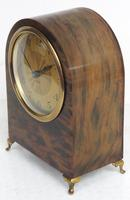 Antique Shell Mantel Clock Fine Arched Top Clock with Brass Dial 8-Day Timepiece Mantle Clock (4 of 9)