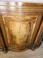 19thc Burr Walnut Credenza Cabinet (3 of 10)