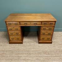 Victorian Walnut Antique Pedestal Desk (6 of 8)
