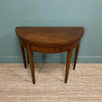 Stunning Demi Lune Mahogany Antique Card / Games Table (6 of 7)
