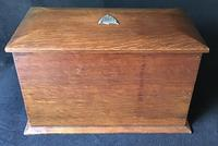 Antique Oak Stationary / Writing Cabinet (5 of 6)