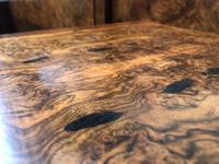 Pair of Antique Burr Walnut Bedside Tables (10 of 12)