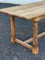 Rustic Bleached Oak Farmhouse Dining Table (15 of 25)
