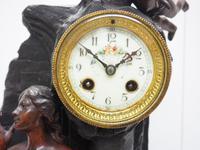 Art Nouveau Figural Mantel Clock Set 8 Day (2 of 11)