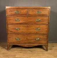 Georgian Caddy Top Mahogany Chest of Drawers (2 of 7)