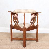 Georgian Corner Elbow Chair Beech (4 of 10)