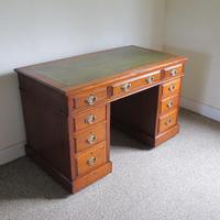 Walnut Pedestal Desk (9 of 9)