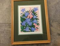 Winifred Packard Signed Coloured Etching of Campanulas (2 of 2)