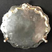 Old Sheffield Plate Silver Plated Salver (5 of 5)
