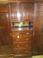 Late Victorian Compactum Triple Wardrobe (2 of 6)