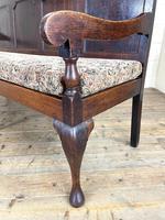 Antique George III Oak Settle Bench (7 of 10)