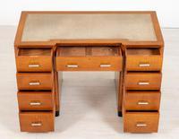 Blonde Oak Art Deco Desk (4 of 9)