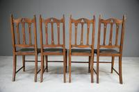 Arts & Crafts Oak Dining Chairs (9 of 12)