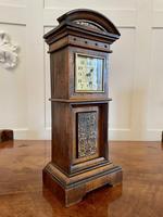 Antique Walnut Miniature Grandfather Clock