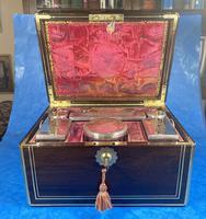Georgian  Rosewood Brassbound Vanity Box (18 of 34)