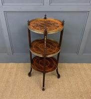 Victorian Inlaid Rosewood Etagere (9 of 9)