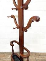 Victorian Mahogany Tree Shaped Hall Stand with Four Arms (8 of 10)