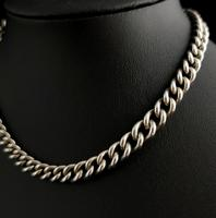 Vintage Art Deco Sterling Silver Albert Chain, Watch Chain (9 of 10)