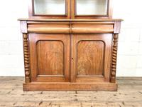 Antique Victorian Mahogany Glazed Bookcase (3 of 9)