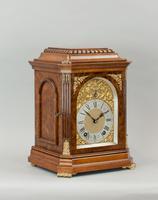 Fine Quality Burr Walnut Bracket / Mantel Clock By Lenzkirch (2 of 11)