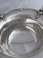 Large Antique Silver Bread Or Fruit Bowl 1929 London, Goldsmiths & Silversmiths (10 of 12)