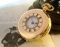 Antique Pocket Watch 1922 Swiss Vertex 7 Jewel Half Hunter 10ct Gold Filled Fwo (5 of 12)