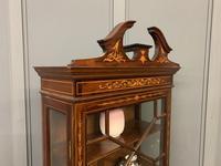 Edwardian Slender Inlaid Mahogany Display Cabinet (16 of 21)