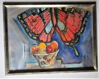 Michael Rothenstein R.A, Watercolour, Butterfly Kite & Fruit Bowl, 1988, Framed (2 of 5)
