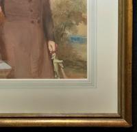 Frederick Cruickshank Fine Watercolour Portrait Painting of Gent (3 of 12)