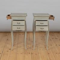 Pair of Large French Painted Bedside Cabinets (6 of 9)