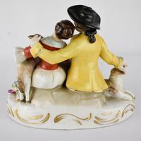 Naples Porcelain Romantic Couple Figurine (2 of 4)