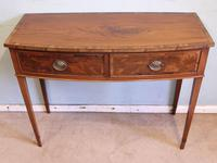 Antique Georgian Style Mahogany Two Drawer Side Table (5 of 7)