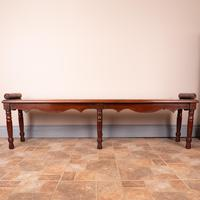 Large Late Victorian Mahogany Hall Bench Window Seat (6 of 11)